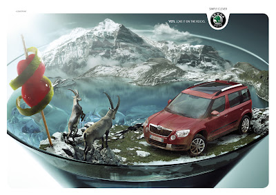 Publicité Skoda Yeti : on the rocks !