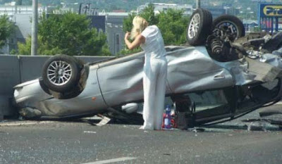 Ongeval blondjes