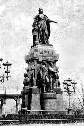 В Крыму открыли памятник Екатерине II