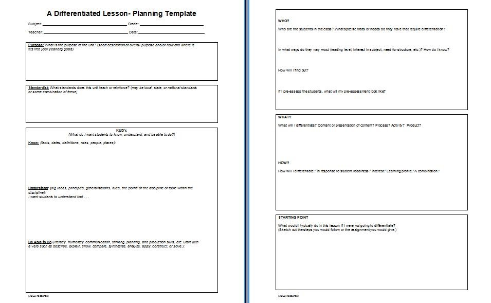 Adrian 39 s thoughts on education k u d vs 4mat for Lfs lesson plan template