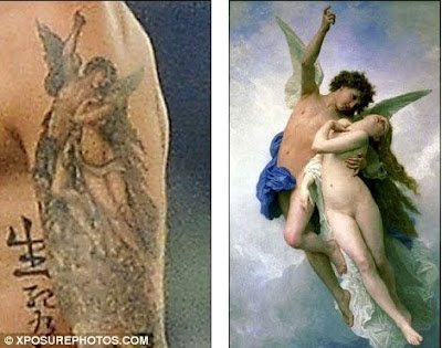Beckhams Blog: Tattoo: David. Cupido y Psyche