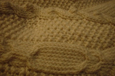 Aran Knit Christmas Stocking