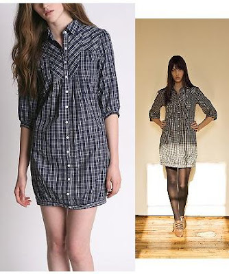 The other shirt dress I found on uo.com is this plaid shirt dress.