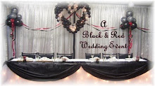 Black & Red Balloon Wedding