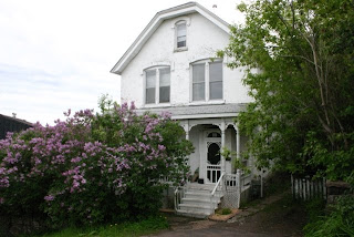 our house, framed in lilacs