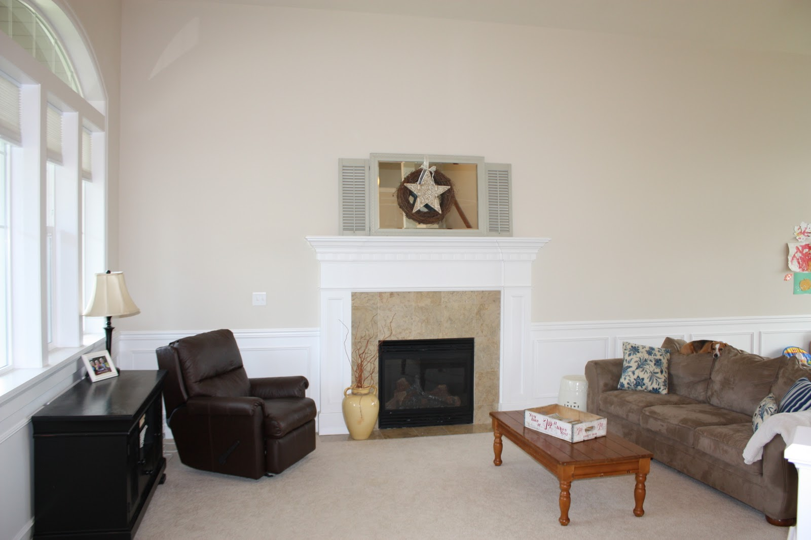 Here Is The BEFORE What Our Living Room Looks Like Now