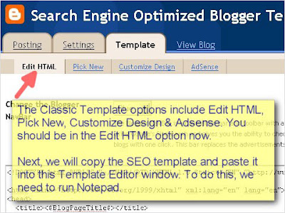 SEO Blogger Template Tutorial - Step 5
