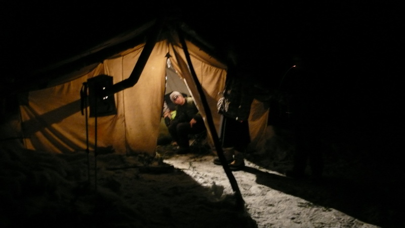 Algonquin park cottage outpost web log traditional winter for Woods prospector tent