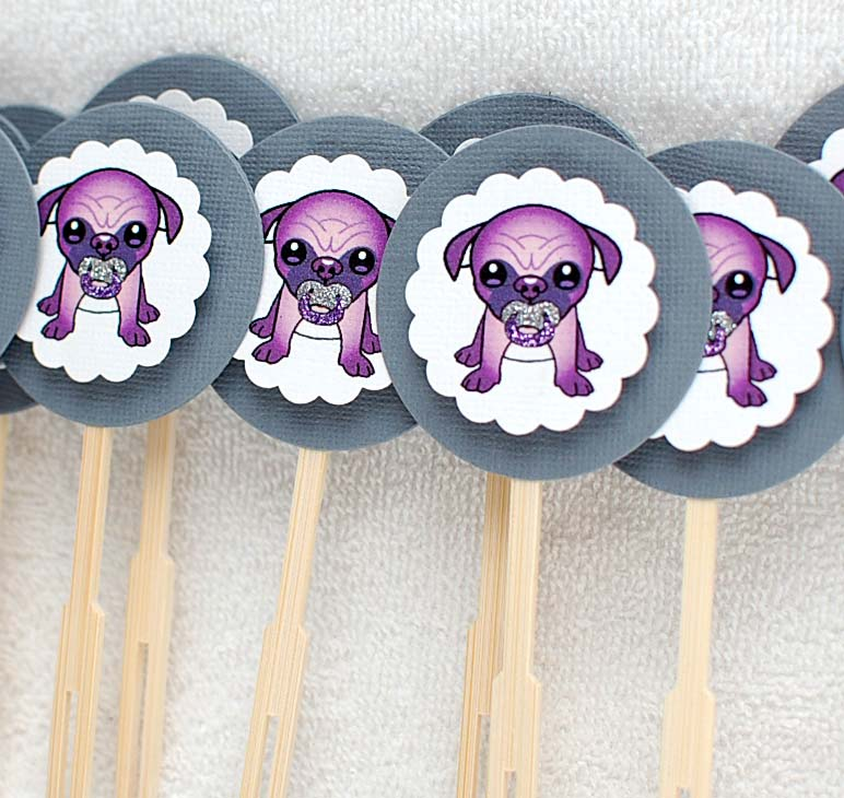 Purple Baby Shower Cupcake Toppers 772 x 730