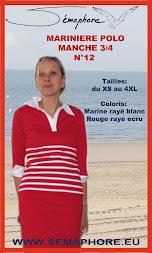 Marinière polo manche 3/4 SE09012ad