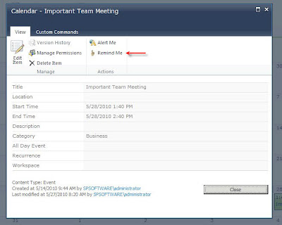 premierpoint solutions team blog add sharepoint reminders