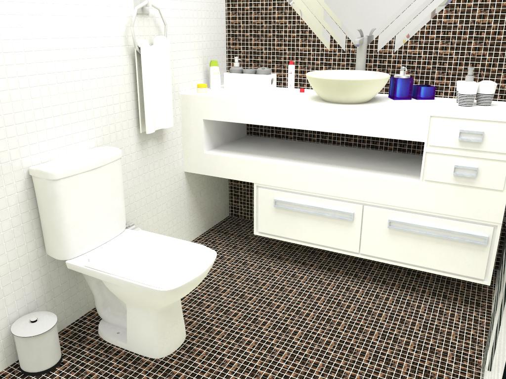Design de Interiores: Banheiro e Closet #2241A9 1024x768 Bancada Banheiro Teca