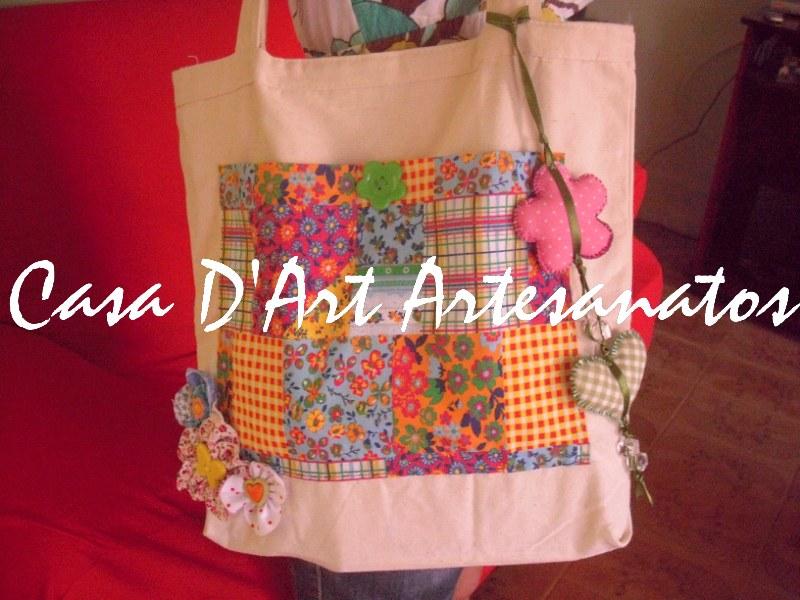 Bolsa De Fuxico Artesanato : Casa d art artesanatos by esther bolsa de tecido com fuxico