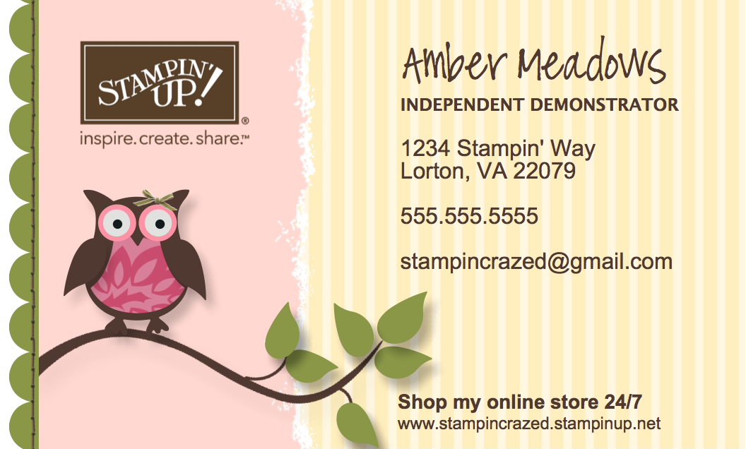 Stampin\' Crazed: Business Card