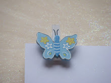 Blue Butterfly Grave Card Holders