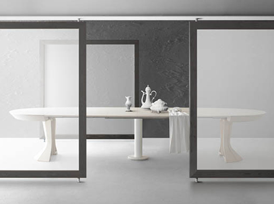 Modern Opera By Bauline Round Expandable Dining Table Aya Furniture