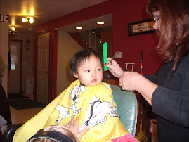 Mazzi's 1st Haircut...many months ago!