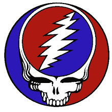 "This famous Grateful Dead logo is known as ""White Lightening Man"""