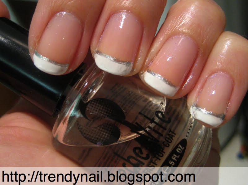Tutorial French bianca bordata d\u0027argento easy manicure