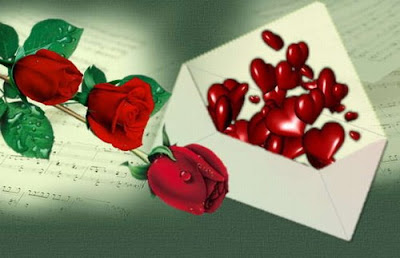 carta corazones rosa
