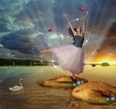 mujer bailarina primavera