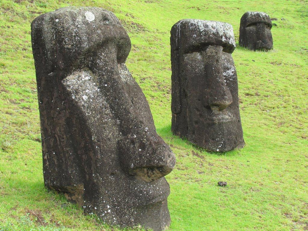 Easter island moai stone statue