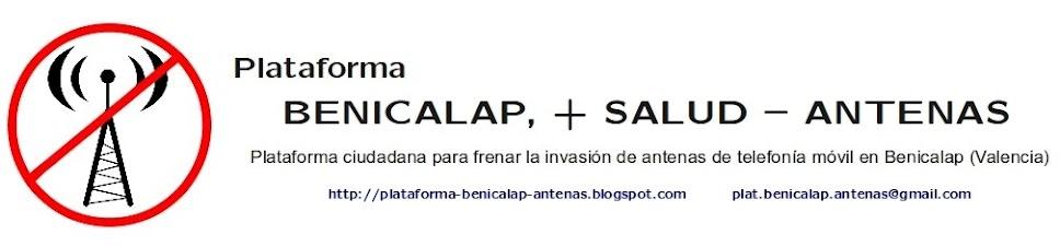 Plataforma BENICALAP, + SALUD - ANTENAS