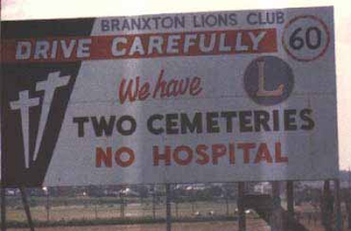 2 cemeteries, no hospital
