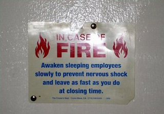 in case of fire . . .