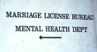 marriage license bureau mental health department signs