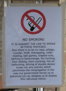 long no smoking sign