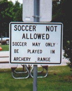 soccer only in archery range
