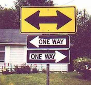 One Way Both Ways sign