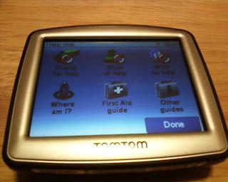 TomTom One 130 GPS Help Me Screen