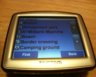 TomTom One 130 POI Categories