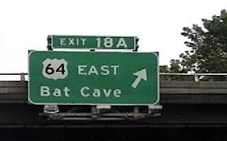 Bat Cave Exit Sign