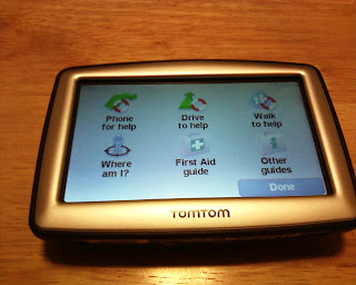 TomTom XL 330S Help Me Screen