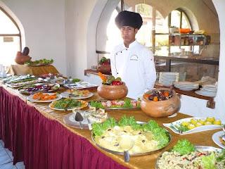 Lunch buffet at Urubamba