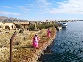 View of several Uros islands