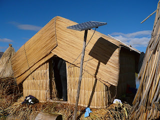 Solar panel to power electrical appliances on Uros island