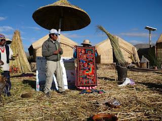 Handicrafts in Uros