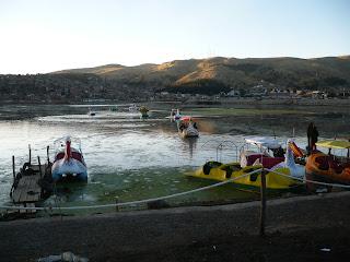 Lake Titicaca pleasure boaters