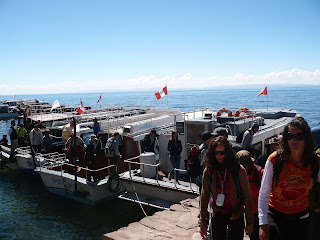Eastern dock of Taquile island