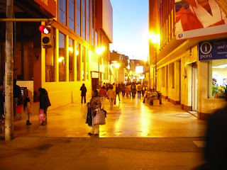 Pedestrian mall near main square of Puno