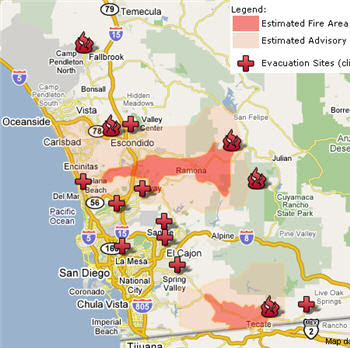 Ca Fire Map Update.Gis Sites Southern California Fire Map And San Diego County Fire Map