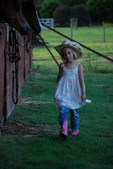 My niece at the barn