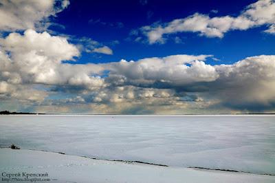 Снег, Пейзаж, Облака, Небо