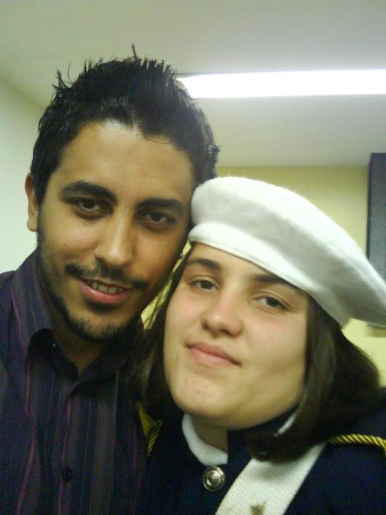 Eu e minha linda aluna!