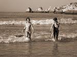 Pulguinhas na praia