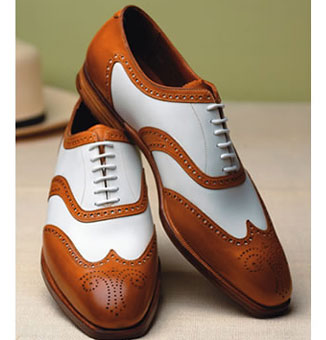 Shoe like the above spectator would also look smashing paired with a
